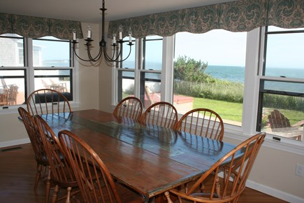Oceanfront Residential Hyannis Cape Cod vacation rental - Dining Room with Ocean Views...Seats 12