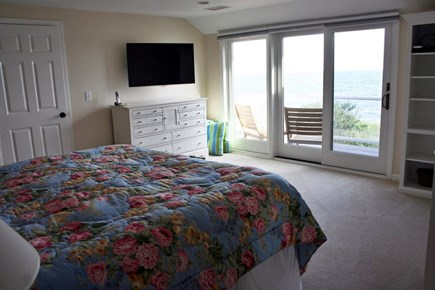 Oceanfront Residential Hyannis Cape Cod vacation rental - King Master Suite with balcony overlooking the ocean!