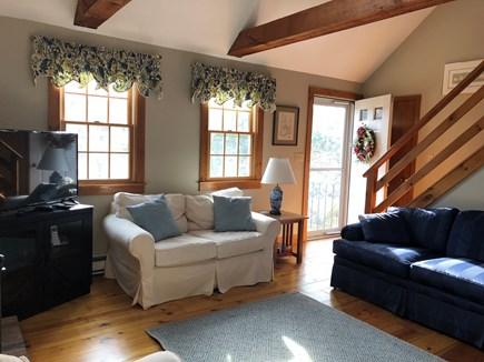 Eastham Cape Cod vacation rental - Living room with conversational seating and cable TV.