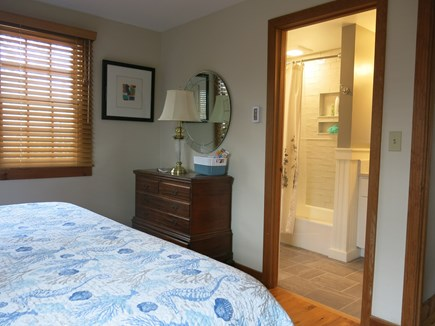 Eastham Cape Cod vacation rental - Upstairs master bedroom with full bath.