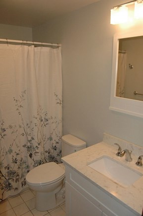 Eastham Cape Cod vacation rental - Downstairs bathroom,  New toilet and vanity.  Walk-in shower.