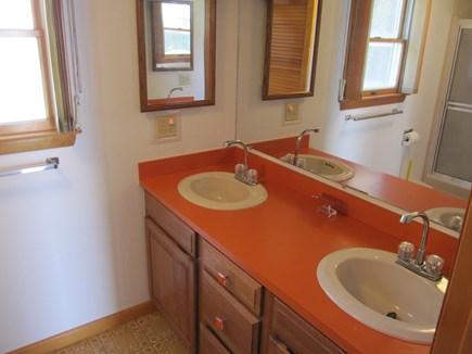 Wellfleet Cape Cod vacation rental - Double vanity and shower/tub combo
