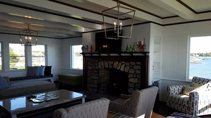 West Yarmouth Cape Cod vacation rental - Living room with water views