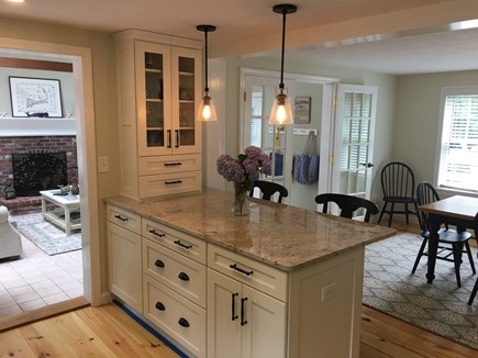 Brewster Cape Cod vacation rental - Kitchen Island with Pendant Lighting