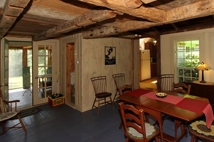 Harwich -  Cape Cod vacation rental - Beamed ceilings in dining area and 2nd floor bedrooms.
