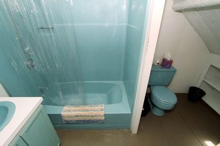 Harwich -  Cape Cod vacation rental - 2nd floor en suite bath has tub/showe. 1st floor bathroom shower.