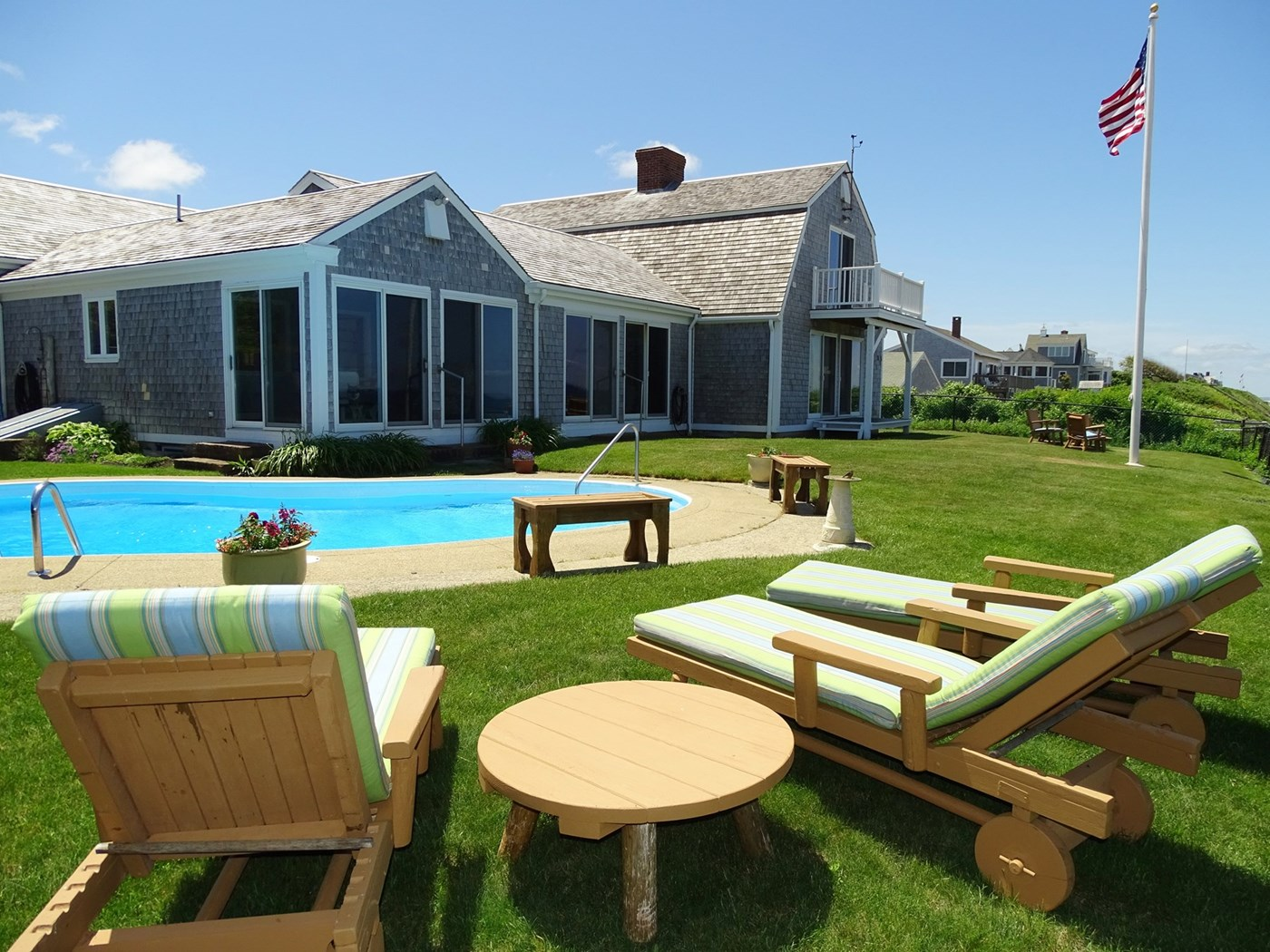 Dennis Vacation Rental home in Cape Cod MA, On private beach