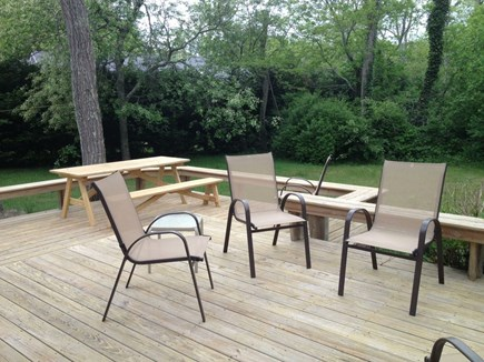 Eastham Cape Cod vacation rental - Deck overlooking the back yard