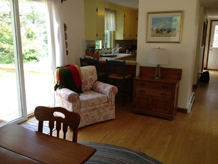 Eastham Cape Cod vacation rental - View from dining room to deck and kitchen