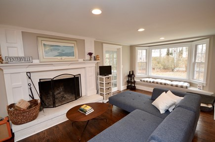 Barnstable, Centerville Cape Cod vacation rental - Living room with window nook overlooking the front yard