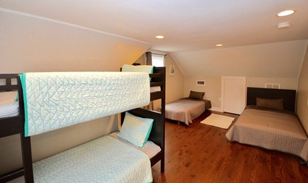 Barnstable, Centerville Cape Cod vacation rental - Upper level room with bunk beds, twin and twin sleeper futon