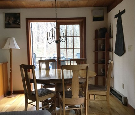 Wellfleet Cape Cod vacation rental - Dining Room with French Doors leading to deck and eating area