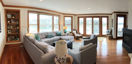New Seabury, Daniels Island New Seabury vacation rental - Living room with slider to the deck