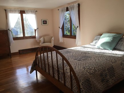 Falmouth, New Silver  Cape Cod vacation rental - Master bedroom with queen bed and en suite, first floor