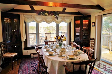 South Yarmouth Cape Cod vacation rental - Charming Dining Room with a slide door to the huge deck