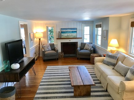 Dennis Port Cape Cod vacation rental - Large and comfortable living room to relax, with HDTV