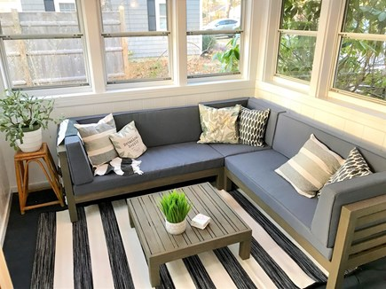Dennis Port Cape Cod vacation rental - Comfortable enclosed porch to relax