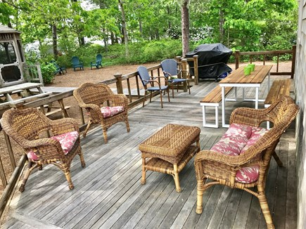 Dennis Port Cape Cod vacation rental - Plenty of outdoor lounge seating and dining seating options