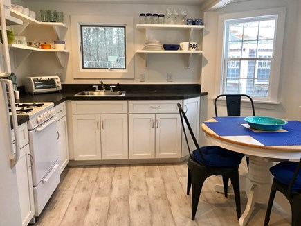 Wellfleet Cape Cod vacation rental - Well-equipped eat-in kitchen.