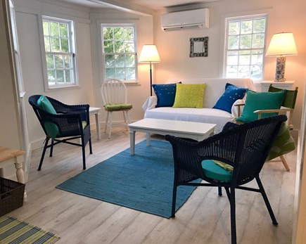 Wellfleet Cape Cod vacation rental - Comfortable living room with A/C and flat screen TV.