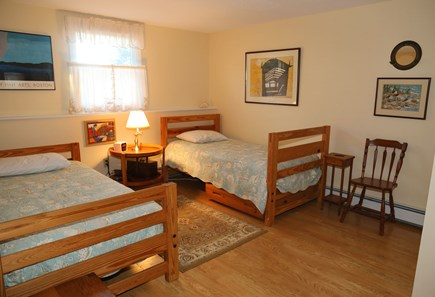 East Sandwich Cape Cod vacation rental - Bedroom with Double and Twin Bunk on lower level.