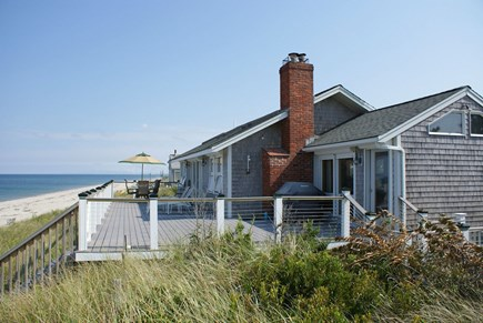 East Sandwich Cape Cod vacation rental - Ocean side of the house overlooks Cape Cod Bay.