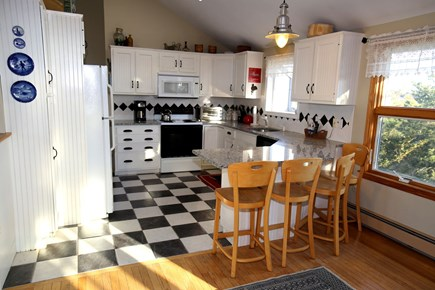 East Sandwich Cape Cod vacation rental - Fully equipped Kitchen with bartop seating.