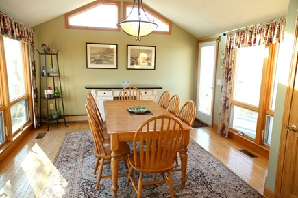 East Sandwich Cape Cod vacation rental - Separate Dining Room with access to deck.