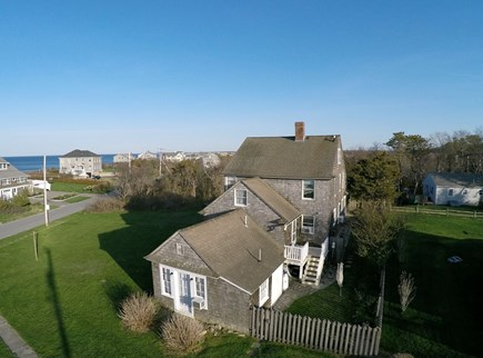 Sagamore Beach, Bourne Sagamore Beach vacation rental - Aerial of house and ocean across the street.