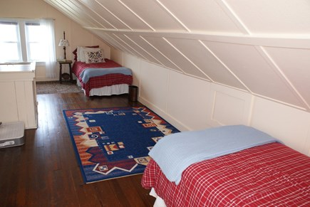 Sagamore Beach, Bourne Sagamore Beach vacation rental - Bedroom under the eaves with 2 Twins on the 3rd Floor.