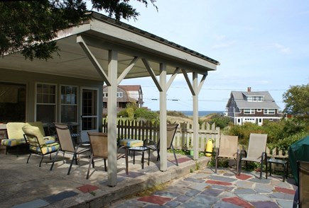 Sagamore Beach, Bourne Sagamore Beach vacation rental - Patio with shaded area, sunny area and waterviews.