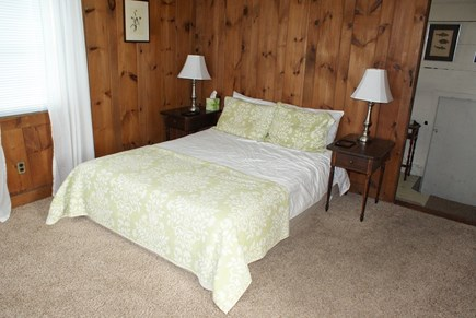 Sagamore Beach, Bourne Sagamore Beach vacation rental - Master Bedroom with Queen off the Kitchen hallway.