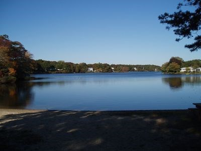 South Yarmouth Cape Cod vacation rental - Walk to private Ice House Association beach at Long Pond.
