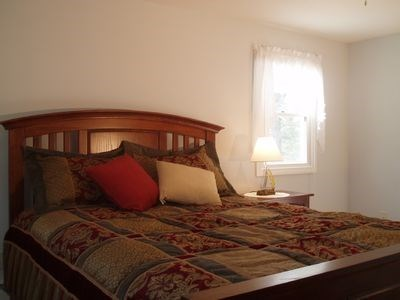 South Yarmouth Cape Cod vacation rental - Master bedroom with queen size bed and full bath.