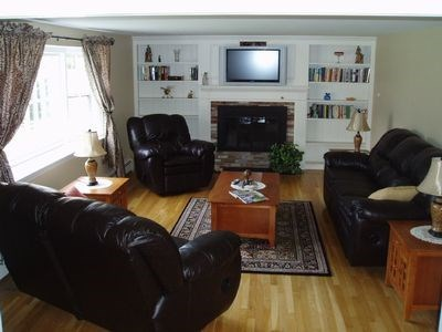 South Yarmouth Cape Cod vacation rental - Spacious living room.