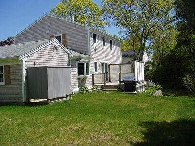 South Yarmouth Cape Cod vacation rental - Rear view of house showing yard.