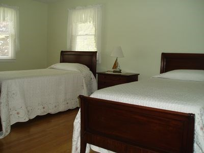 South Yarmouth Cape Cod vacation rental - Third bedroom with twin beds.