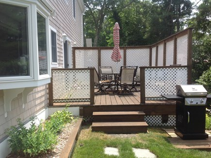 South Yarmouth Cape Cod vacation rental - Deck with patio furniture and gas grill