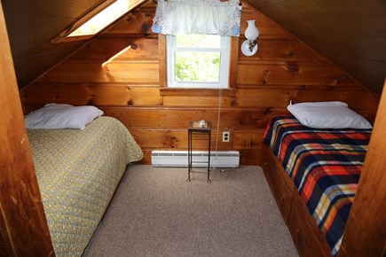 Sandwich Cape Cod vacation rental - Bedroom with 2 Twins on 2nd Floor with low ceiling height.