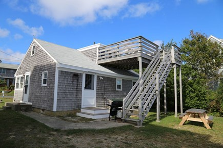 Sandwich Cape Cod vacation rental - Upper level deck with oceanviews.
