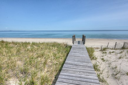 East Sandwich Cape Cod vacation rental - Private boardwalk over the dunes to Association beach.