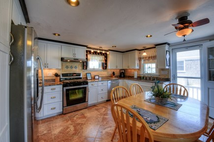 East Sandwich Cape Cod vacation rental - Upscale Kitchen with Dining table.