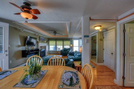 East Sandwich Cape Cod vacation rental - Dining area opens to Living Room.