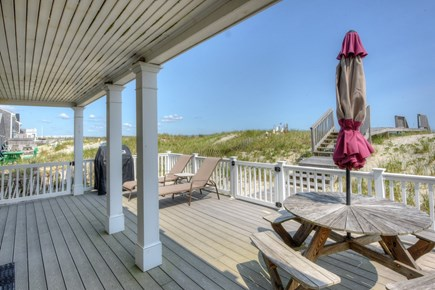 East Sandwich Cape Cod vacation rental - Lower deck offers shade and sun.
