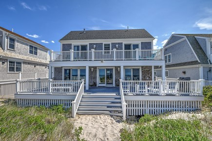 East Sandwich Cape Cod vacation rental - Back view of house from dunes