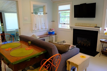 Eastham Cape Cod vacation rental - Fireplace and TV