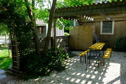 Eastham Cape Cod vacation rental - Private outdoor picnic and shower area
