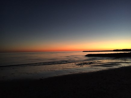 Chatham Cape Cod vacation rental - Private deeded beach at sunset.