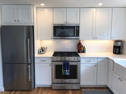 Chatham Cape Cod vacation rental - Gas cooking, microwave, toaster, coffee, juicer and wine cooler.