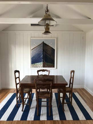 Chatham Cape Cod vacation rental - Dining area.  6 chairs, 2 not shown.  New chandelier on order!